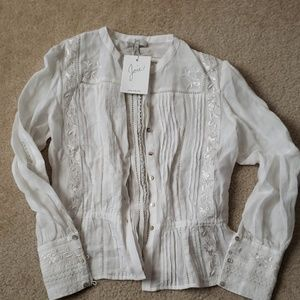 NWT White Joie Shirt Size XS